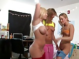 Hot Striptease Dance With 3 Sexy Girls