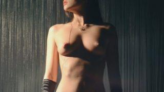 Amazing Striptease So Sexy Girl Black Lingerie