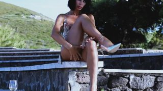Hot Striptease Francesca Felucci In Public Place