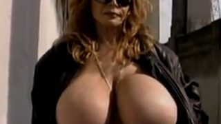 Very Hot Striptease Naked And Flashing In Public Place