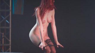 Free Strip Dance Videos Gorgeous Red Head