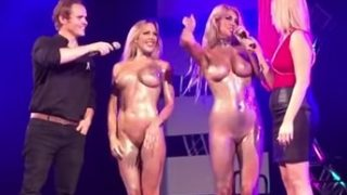 Strip off bikini contest