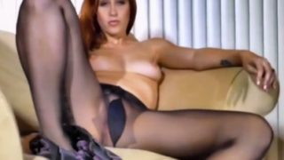 Hot Striptease Video Sexy Luna In Pantyhose