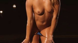 Striptease Girl Video Super Hot All Natural Erin Blue Bikini