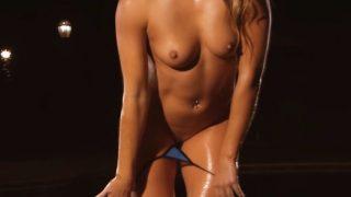 Striptease Girl Video Super Hot All Natural Erin Blue Bikini
