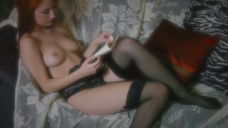 Sexy Strip Video Redhead Model In Sheer Lingerie