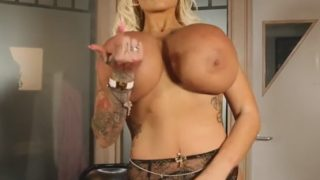 Busty Striptease Watch British Candy Charms Big Boobs Performance