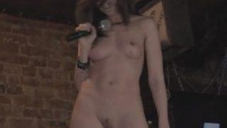 Striptease On Stage Jeny Smith Undresses At Public Bar