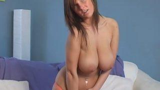 Strip Tease Full Nude Brunette British Busty Model Kandy Cole