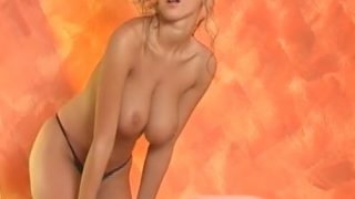 Striptease Video Just Perfect Woman In Sexy Fishnet