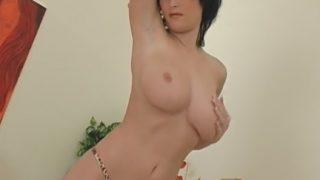 Hot Sexy Striptease Sexually Gorgeous Brunette Miriam