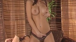 Sexy Girl Striptease Watch Solo Brunette Babe Satin Bloom
