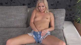 Solo Striptease Watch Beautiful Blonde Chick Cayla Lyons Naked