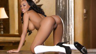 Playboy Striptease Watch Solo Ebony Babe Brandi Kelly Naked Body