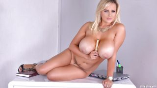 Striptease Naked Watch Hugely Busty Blonde Tye Thornton Massive Boobs
