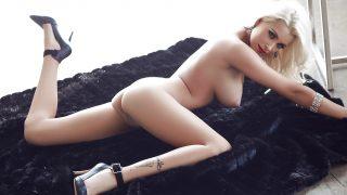 Erotic Striptease Watch Busty Blonde Playboy Model Alissa Arden Nude