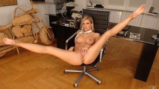 Sexy Striptease Watch Arousing Blonde Slut Gitta Szoke Teasing Naked