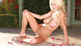 Striptease xxx Watch Cute Blonde Hanna Hilton In Lingerie Unveils Big Boobs