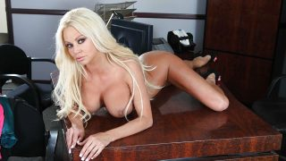 xxx Striptease Watch Glamorous Blonde Nikita Von James Teasing Her Slit