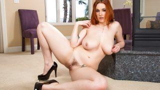Sexiest Strip Watch Redhead Busty Slut Siri Unleashing Huge Natural Boobs