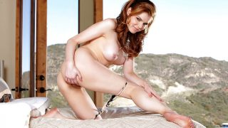 Hot Strip Tease Watch Bosomy Redhead Candle Boxxx Exposing Her Cunt