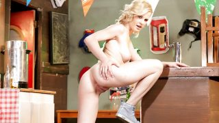Striptease Babes Watch Blonde Leggy Model Catie Parker Shaved Pussy