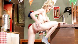Striptease Babes Watch Blonde Leggy Model Catie Parker Shaved Pussy