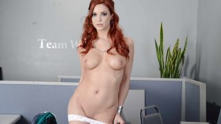 Female Striptease Watch Sweet Redhead Babe Jayden Cole Teasing Naked