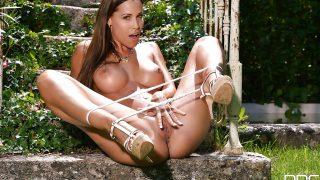 Sexy Strip Watch Seductive Brunette Babe Satin Bloom Spreading Her Cunt