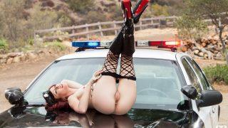 Striptease Nude Watch Skinny Redhead Elle Alexandra Shaved Twat