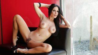 Hot Strip Tease Watch Busty Brunette Kirsten Price Trimmed Cunt