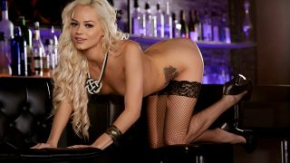 Naked Girls Striptease Watch Thin Blonde Elsa Jean Expose Shaved Twat