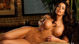 Lingerie Strip Watch Classy Playboy Model Vanessa Wade Nude Pose