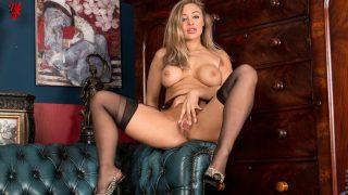 Nude Strip Dance Busty Blonde Beth Bennett Shows Her Boobs