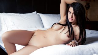 Strip Tease Nude Adorable Brunette Centerfold Brittani Jayde