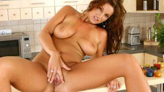 Sensual Brunette Babe Audry Striptease Naked