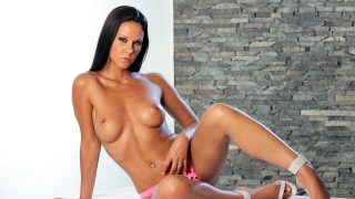 Stunning Brunette Laly Vallade Strip Dance In Micro Bikini