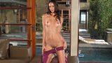 Dark Haired Diva Tiffany Thompson Public Striptease
