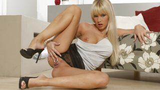 Nasty Blonde With Blue Eyes Sexy Striptease Watch Lenka Moon