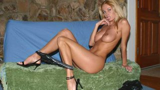 Superb Busty Blond Striptease Dance Show Watch Anita Dark