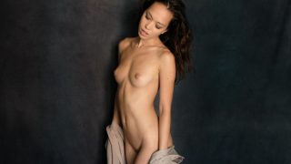 Beautiful Brunette Chick Sexy Striptease Public Watch Kit Rysha