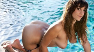 Sexy Naked Brunette Model Strip Tease Watch Holly Michaels