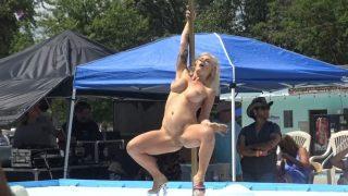 Hot Blonde Model Nude Stripping Pole Dancing Watch Koyotee J Von Diva