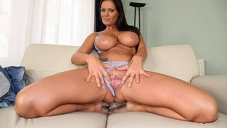 Stacked Beautiful Naked Brunette Sensual Striptease Watch Sheila Grant