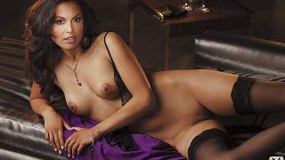 Immensely Lovely Brunette Playmate Strip Nude Watch Raquel Pomplun